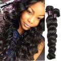 10А Перуанский Свободная Волна 3 Пучки Необработанные Человеческие Волосы Свободно Вьющиеся Норки Перуанский Weave Волос Девственницы Связки Перуанский Свободная Волна