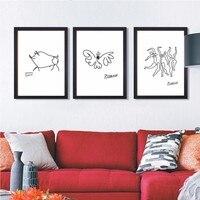 פבלו פיקאסו קווים פשוטים של דאנס תקציר בד ציור שמן צבוע 100% אמנות פוסטר קיר תמונות לקישוט הבית