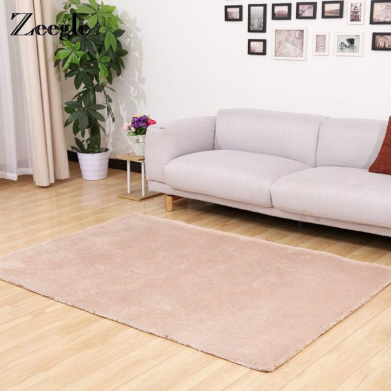 US $7.82 39% OFF|Zeegle Soft Plush Large Size Carpet For Living Room  Kitchen Floor Mats Anti slip Bedroom Bedside Rug Pads Bath Mats For  Bathroom-in ...