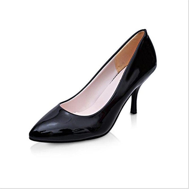 [328]shoe woman shoes Spring Summer Women 's Shoes Of The New Tip Patent Leather Shallow Mouth Shoes Korean High Heels .LSS-708 the french lieutenant s woman