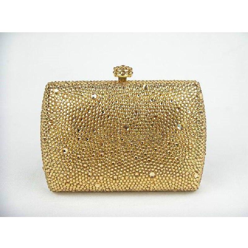 ФОТО 7759ZG GOLD Crystal Lady fashion Bridal wedding Metal Evening purse clutch bag case box handbag
