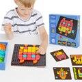 Dedo de roca DIY de dibujos animados de mosaico rompecabezas Enfant juguetes Montessori patrón geométrico reconocer rompecabezas educativo juguete para niños