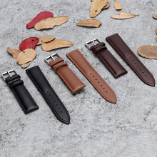 Retro Watch Genuine Brown Leather Men 20mm 22mm 24mm Soft Watchband Metal Band Pin Buckle Accessories цена