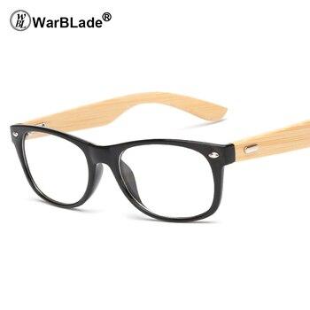 0787b14997 Warblade 2018 vintage retro Gafas Marcos para las mujeres hombres pequeños  madera Eyewear Gafas bambú templo ojo Gafas óptico Marcos S 1525