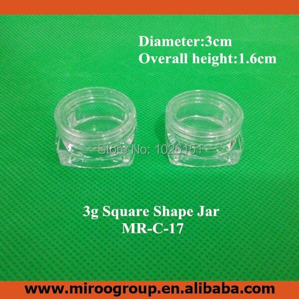 √Freeship 100 unids 3G vacío transparente tarro cosmético plástico ...