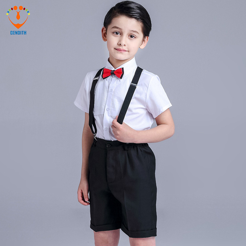 4 Pcs/Set Fashion baby Boy Wedding clothes  3-14 Years Boys Vest Shirt Pants Formal Party Suit color red Childre  Clothing Set 2pcs set baby clothes set boy