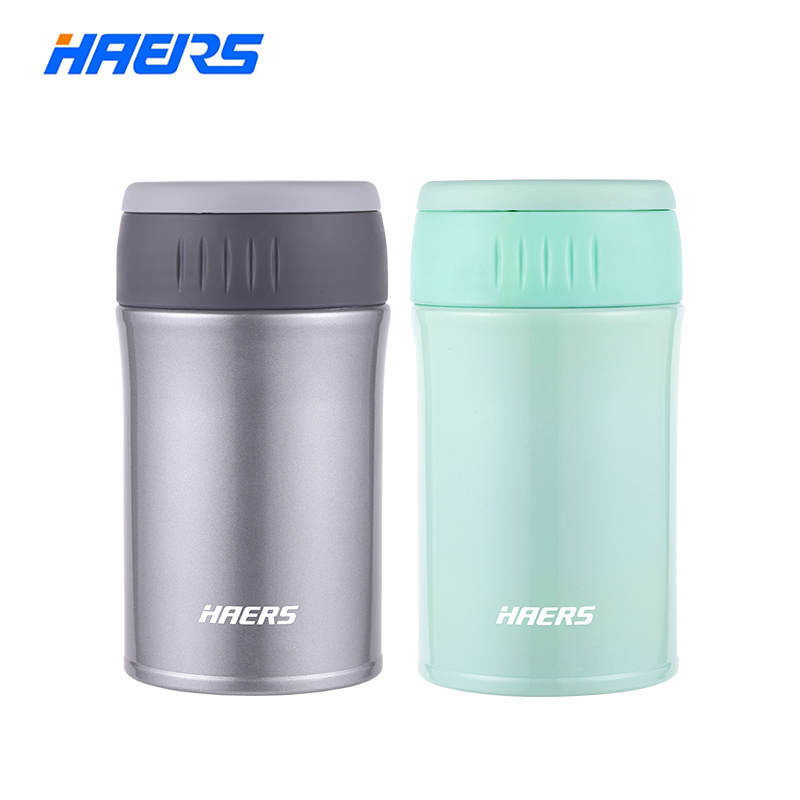 Haers 500ml Food Thermal Jar Vacuum Insulated Soup Thermos 18 8 Stainless Steel Lunch Box with