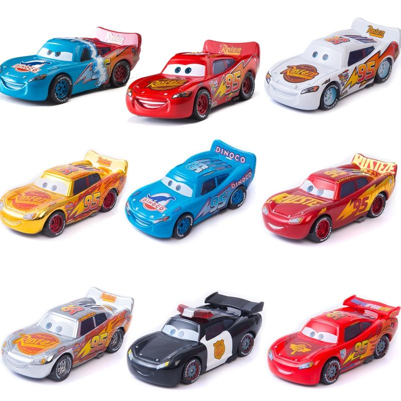 Disney Pixar Cars 3 Lightning McQueen Suit Set Mater Jackson Storm Ramirez 1:55 Diecast Metal Alloy Model Toys For Children Gift
