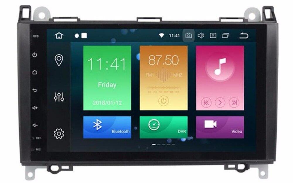 4 4GLTE IPS 9 Voiture Lecteur Multimédia GPS Android 8.0 Voiture Radio 2 Din Pour Mercedes/Benz/ sprinter/W169/B200/B-classe DSP OBD2 WIFI