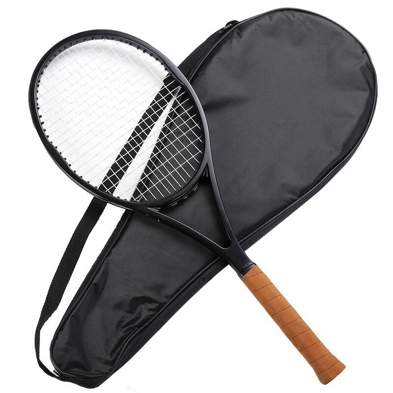 Ehrlichkeit Ps 90 Schwarz Kohlefaser Tennisschläger Schläger Geschäumten Griff 4 1/4, 4 3/8, 4 1/2 Mit Tasche Seien Sie In Geldangelegenheiten Schlau