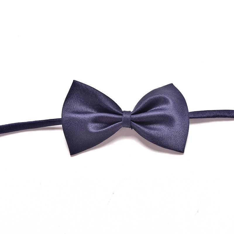 Kid Anak Padat Dasi kupu-kupu Dengan Wedding Party Dasi Promosi Laki-laki pra-terikat Adjustable Bowtie Bow Tie