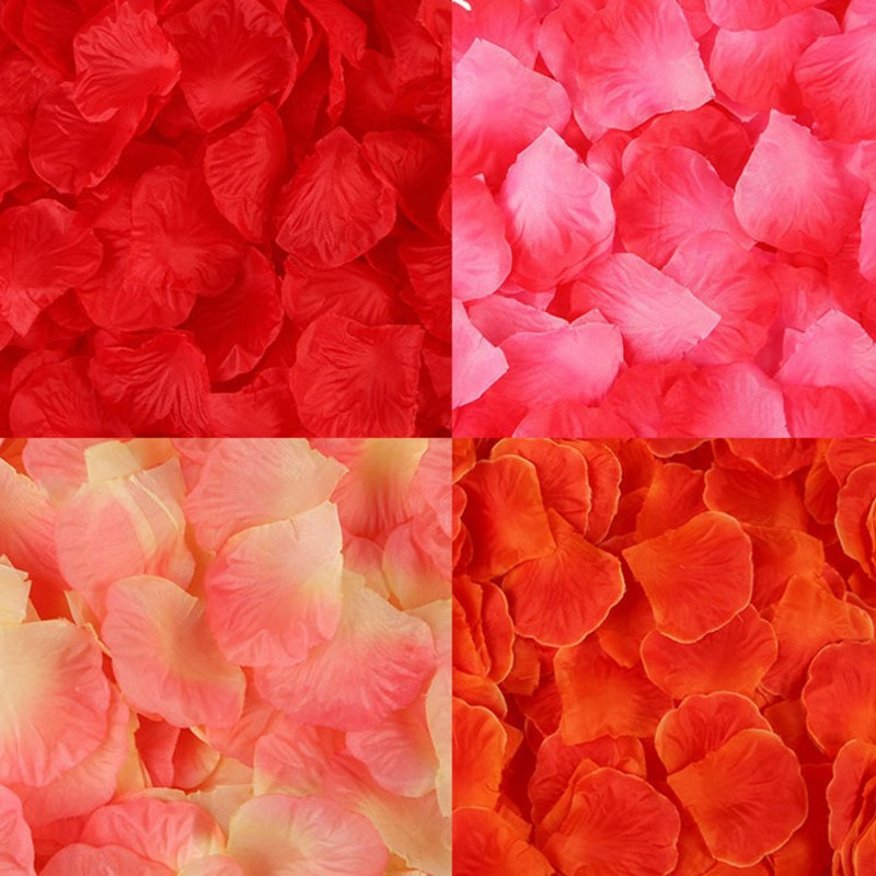 Wholesale 1000pcs/lot Atificial Polyester Flowers Wedding Decorations Fake Rose Petals Girl Toss Patal Flower Confetti Party