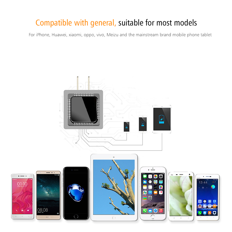 FERISING Universal 4 Ports 7200mah USB Charger Travel Wall Charger - Mobile Phone Accessories and Parts - Photo 5