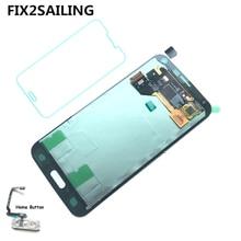 FIX2SAILING 100% Testé Travail Super LCD Affichage à L'écran Tactile Assemblée Accueil Bouton Pour Samsung Galaxy S5 i9600 G900F G900H