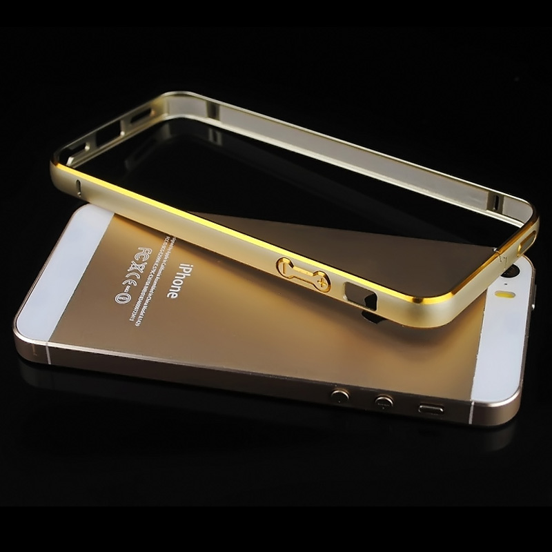 Luxury Brand New Gold For Iphone 5s 5 S Se Bumper Case Aluminium