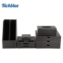 Ever Perfect 5Pcs/Set Business Desk File Cabinet Stand Stationery Organizer Pen Holder Box File Rack Ashtray T24 H