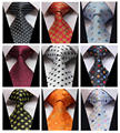 Polka Dot Color 100% Silk New Jacquard Woven Classic  Man's Tie Necktie