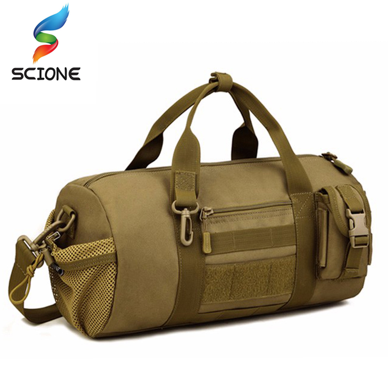 Top Quality Canvas Outdoor Male Sport Bag Military Men And Women Fitness Shoulder Gym Bag Training Female Yoga Duffel Bag