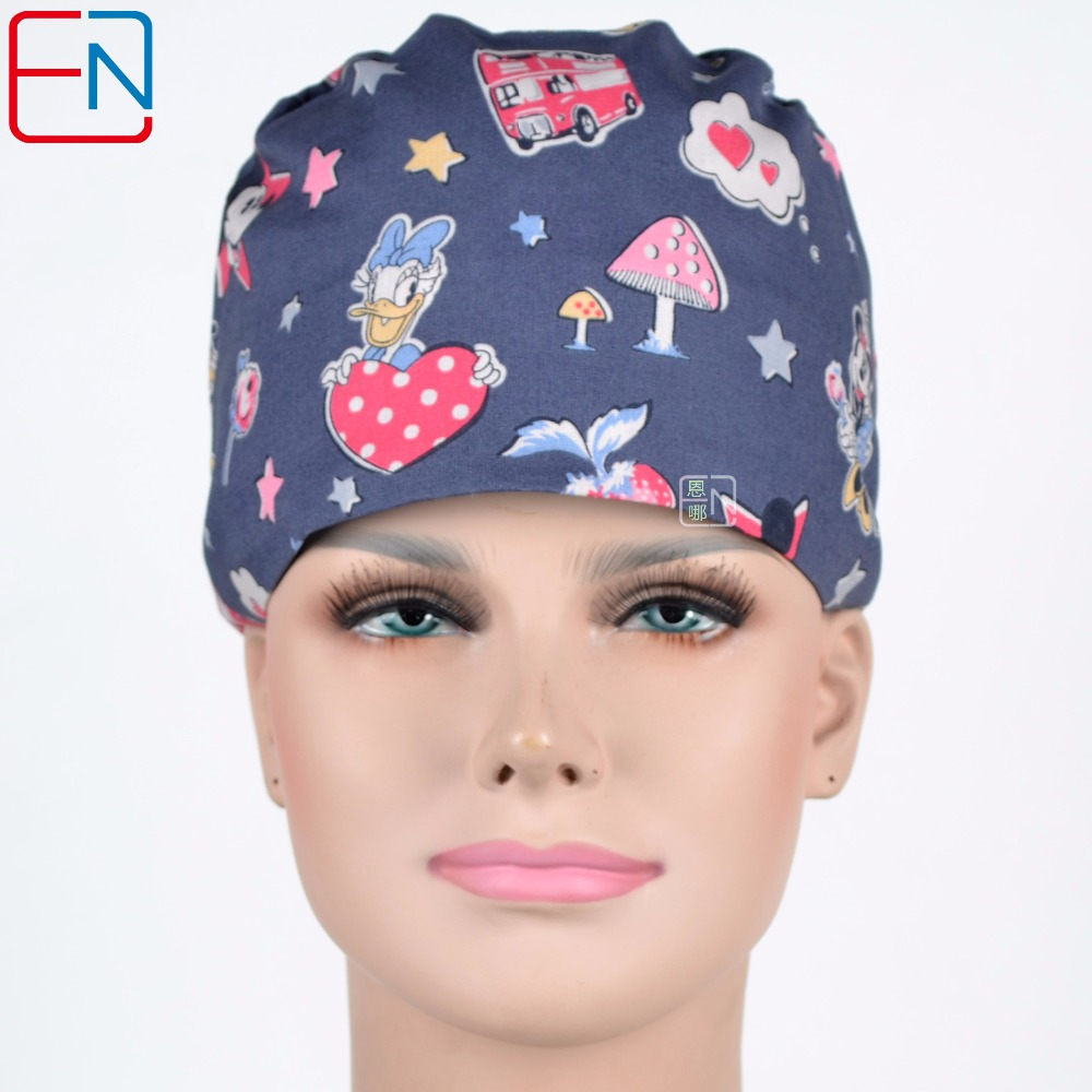 Hennar Surgical Scrub Caps New Adjust Size Freely Bright Colors Caps With Masks For Medical Surgical Doctor Nursing Scrub Caps