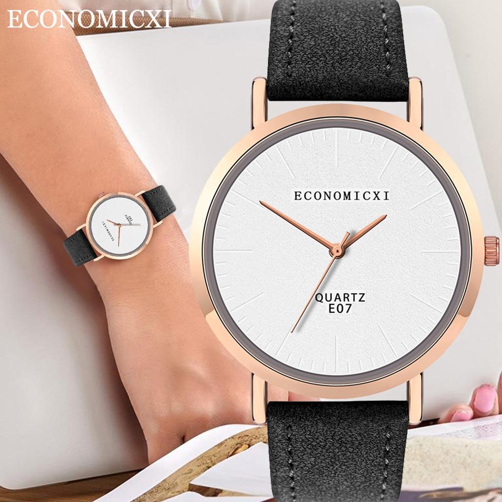 Women's Watch Luxury Brand Waterproof Wristwatch Sport Bracelet Watch Leather Band Quartz Watches Red Wristwatches Women Gift