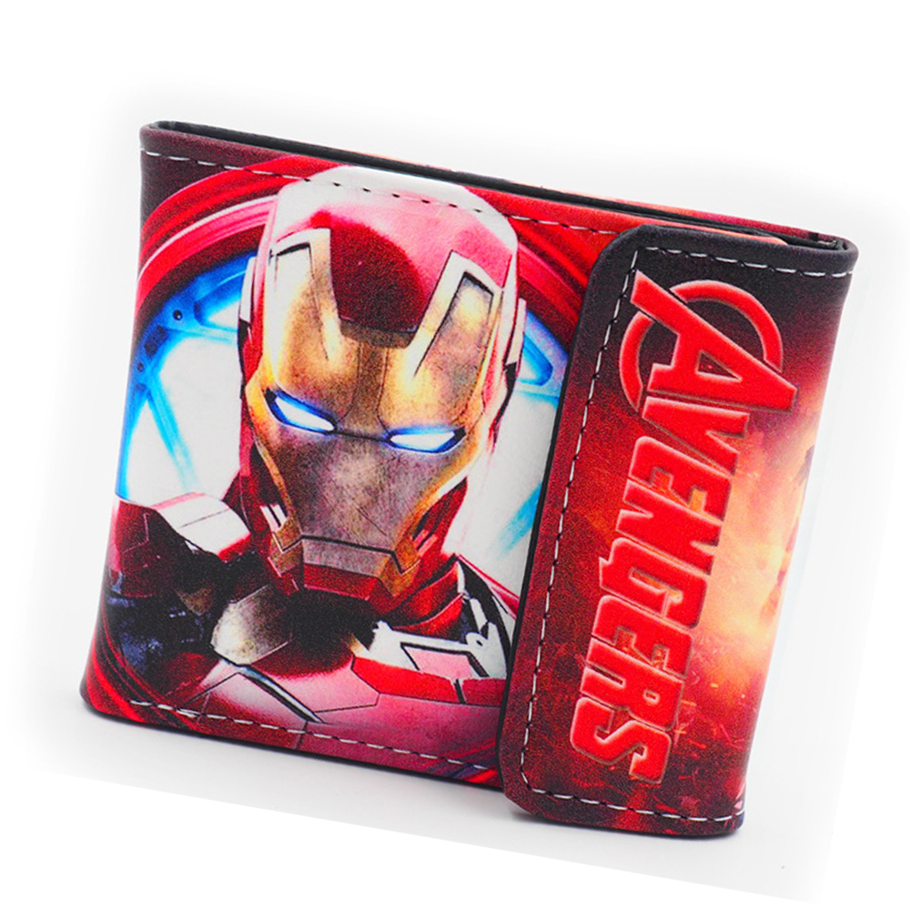 2018 Avengers Iron Man Wallet Marvel The hulk Purses Leather Anime Wallet Bag Credit ID Card Holder Women Wallet For Boys Girls japan anime fairy tale reel scroll style pencil stationary storage wallet bag boys girls gift