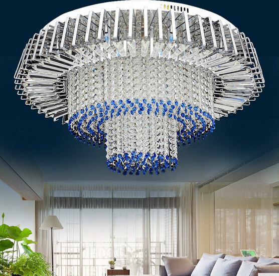 New Design Modern 3 Layers Led Crystal Chandelier Ceiling Lamp Home