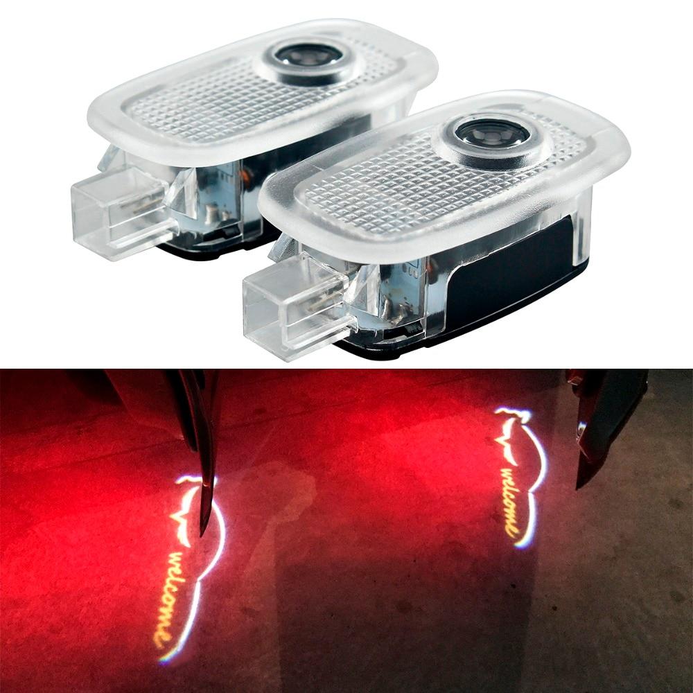 2 Pcs LED Car Styling Door Logo Light for Mercedes W221 Benz S Class S500 S350 S63 S65 Pathway Lighting C200 W204 C Class C180