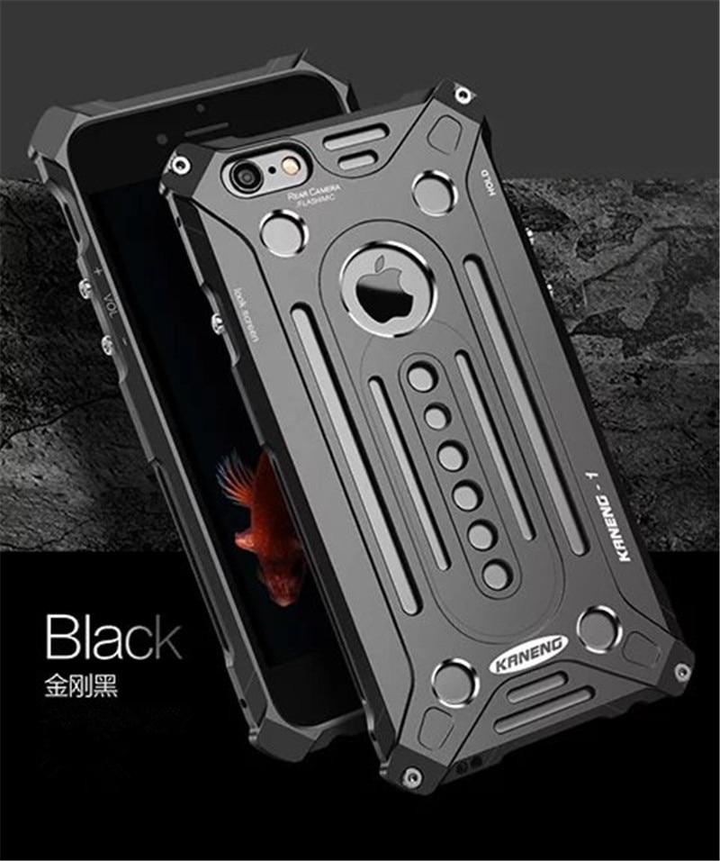 imágenes para Protección completa Armor King Hombre de Hierro de Acero de Metal A Prueba de Golpes Para iPhone 5 5S SE 6 6 s Más 7 7 Más Potente cubierta caso