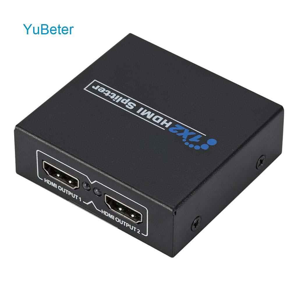 YuBeter Full HD 1080 p rozdzielacz HDMI wideo przełącznik HDMI 1x2 rozdzielacz HDMI 1.3 Adapter do konsoli Xbox DVD HDTV projektor DLP LCD