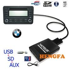 Yatour Car Digital  Music Changer USB MP3 AUX adapter  For 1991-2006 BMW 3pin+6pin X5 X3 M3 M5  yt-m06