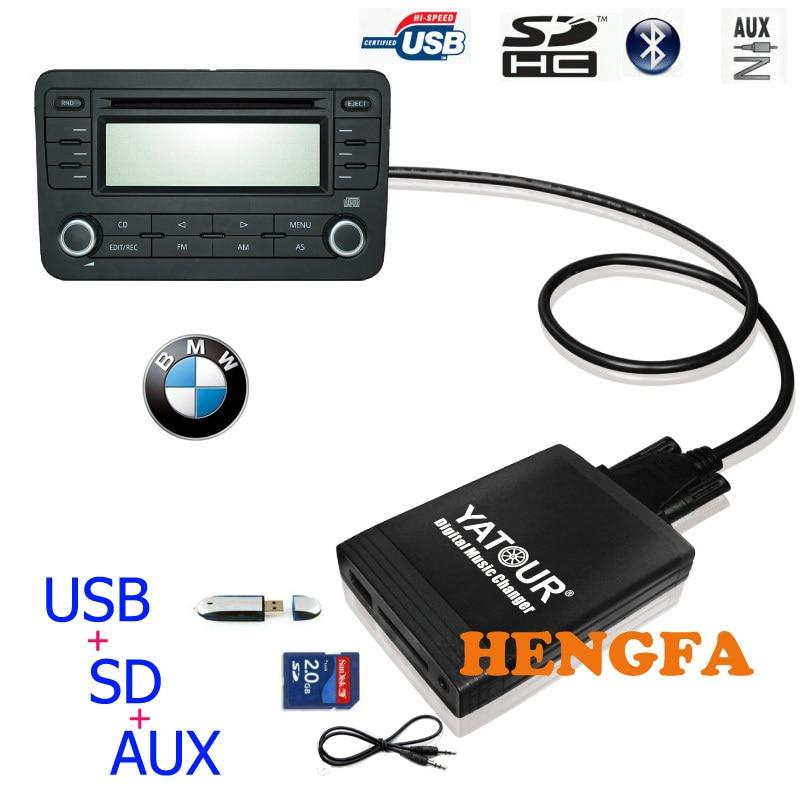 Yatour Voiture Digital Music Changeur USB MP3 AUX adaptateur Pour 1991-2006 BMW 3pin + 6pin X5 X3 M3 M5 yt-m06