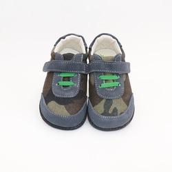TipsieToes Top marka wysokiej jakości prawdziwej skóry szwy dzieci buty boso dla chłopców 2020 wiosna nowy nabytek w Skórzane buty od Matka i dzieci na