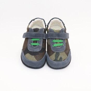 Tipsietoes Top Merek Kualitas Tinggi Kulit Asli Jahitan Anak Sepatu Barefoot untuk Anak Laki-laki 2019 Musim Semi Baru