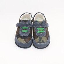 Tipsietoes marca superior de alta qualidade couro genuíno costura crianças sapatos descalços para meninos 2020 primavera nova chegada