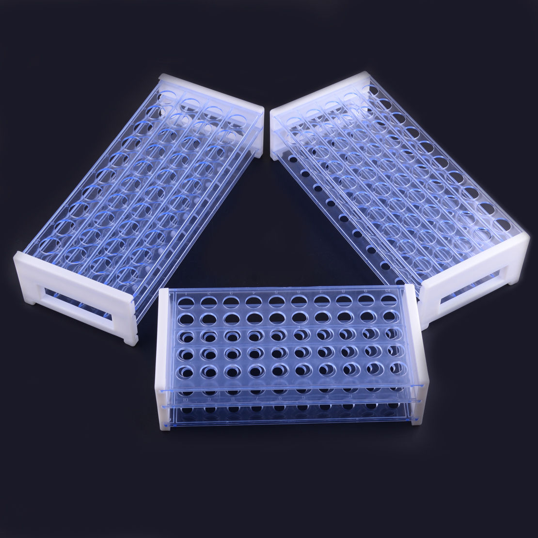 LETAOSK 3 Layers Plastic Test Lab Tube Rack Holder Centrifugal Pipe Support Burette Stand Laboratory For 13/16/18mm