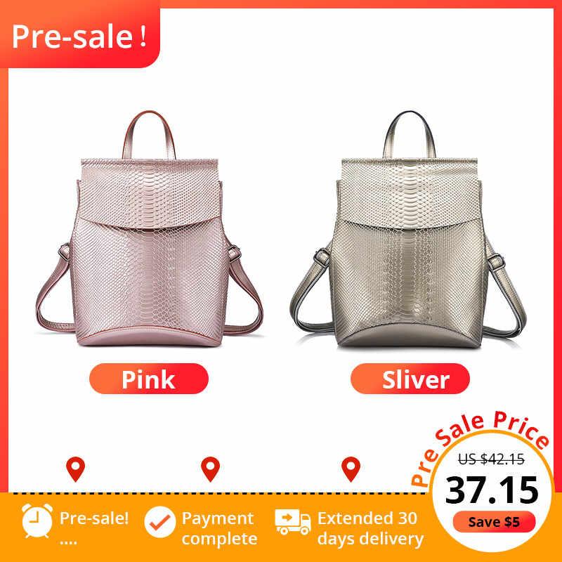 REALER Рюкзак Женщины Дорожная сумка спилок рюкзаки для школы рюкзаки высокой емкости Мода многофункциональные сумки женские