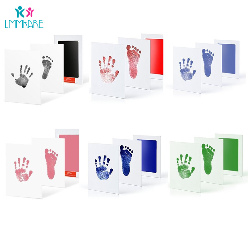 Baby Care Non-Toxic Baby DIY Handprint Footprint Imprint Kit Baby Souvenirs Casting Clay Print Toddler Ink Pad Toys Gifts