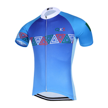 2017 QKI Italy National Blue Short Sleeves Cycling Jersey Cycling Shirt  Maillot Cycling Clothing Wear Ropa Ciclismo