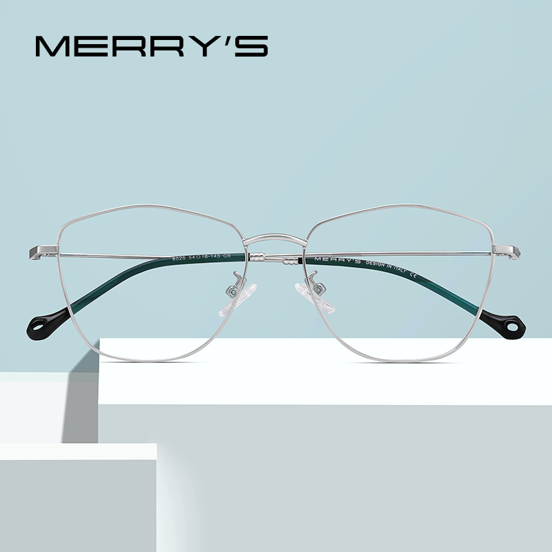 MERRY'S Unisex Fashion Glasses Frame Men/Women Myopia Prescription Optical Eyeglasses S2026