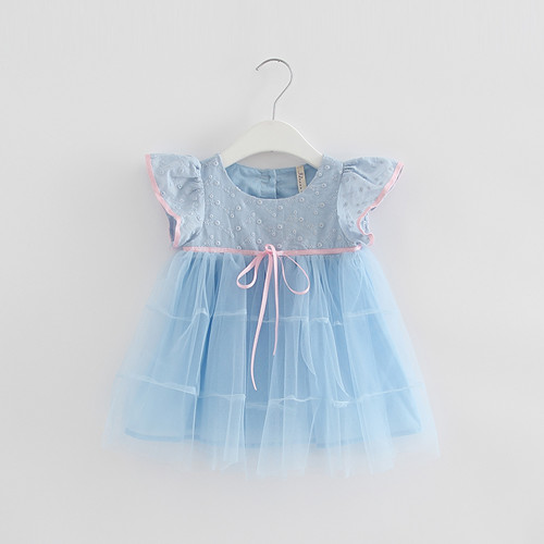 Dresses For Girls Solid Dress Kids Summer Cute Dresses For Baby Girl Toddler Dress Child Clothes 3 Color 0-2T