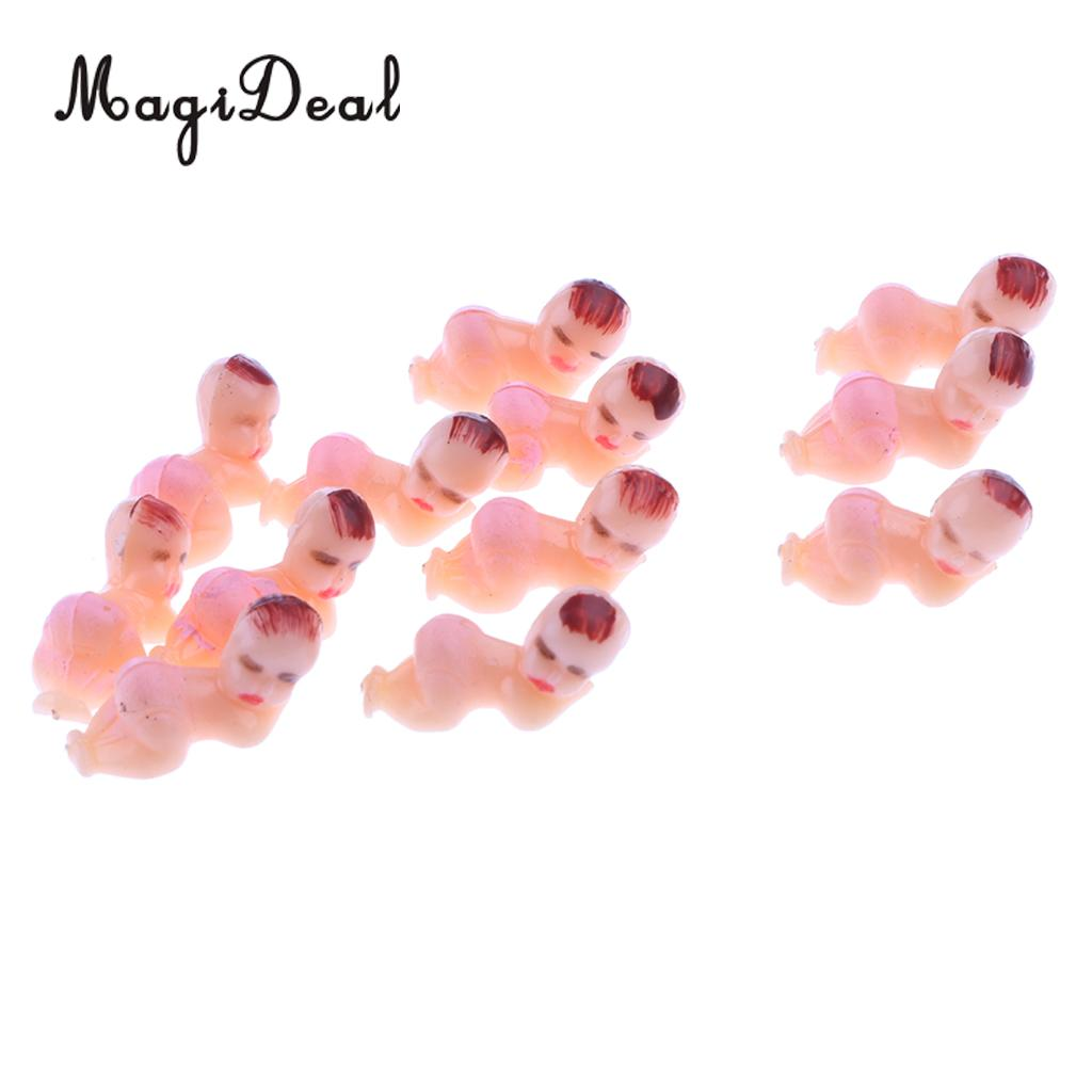 50pcs Mini Sleeping Boy Girl Baby Shower Favor Party Decoration Gift