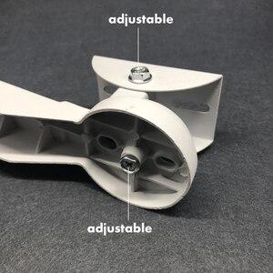 Image 5 - Алюминиевый кронштейн для камеры видеонаблюдения Регулируемый цилиндрический полюсный кронштейн обруч прямоугольный наружный настенный угловой кронштейн аксессуары для CCTV