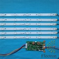 39'' 40'' 775mm LED Backlight Lamps kit w/ Optical Lens Fliter for TV Monitor Panel 12pcs LED strips + driver board