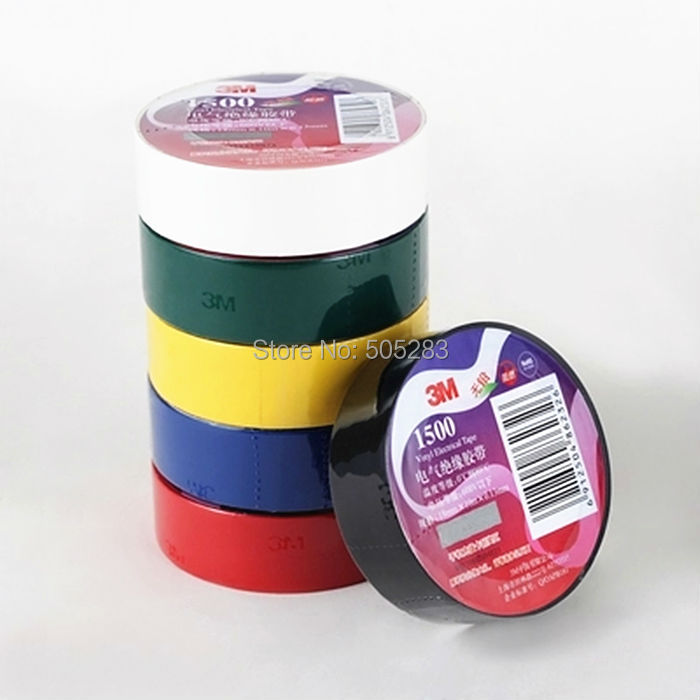 New 1pc 3m 1500 Vinyl Electrical Tape Insulation Adhesive
