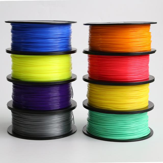 8 Color Option 3D Printer Filament 1KG/roll PLA Filament/ABS Filament 1.75mm Plastic Consumables Material 3D printer n 3D pen