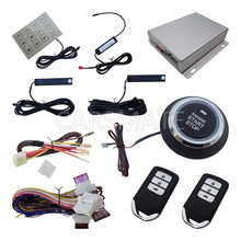 Rolling Code PKE Car Alarm System Push Button Start Remote Start Engine Auess By Password Keyboard