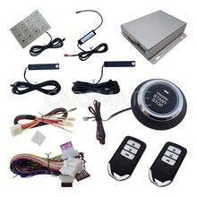 Rolling Code PKE Car Alarm System Push Button Start Remote Start Engine Auess By Password Keyboard Intelligent Anti-Car Jacking
