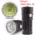 High Quality  32000LM 13x CREE XM-L T6 LED Flashlight Torch 4x 18650 Hunting Light Lamp