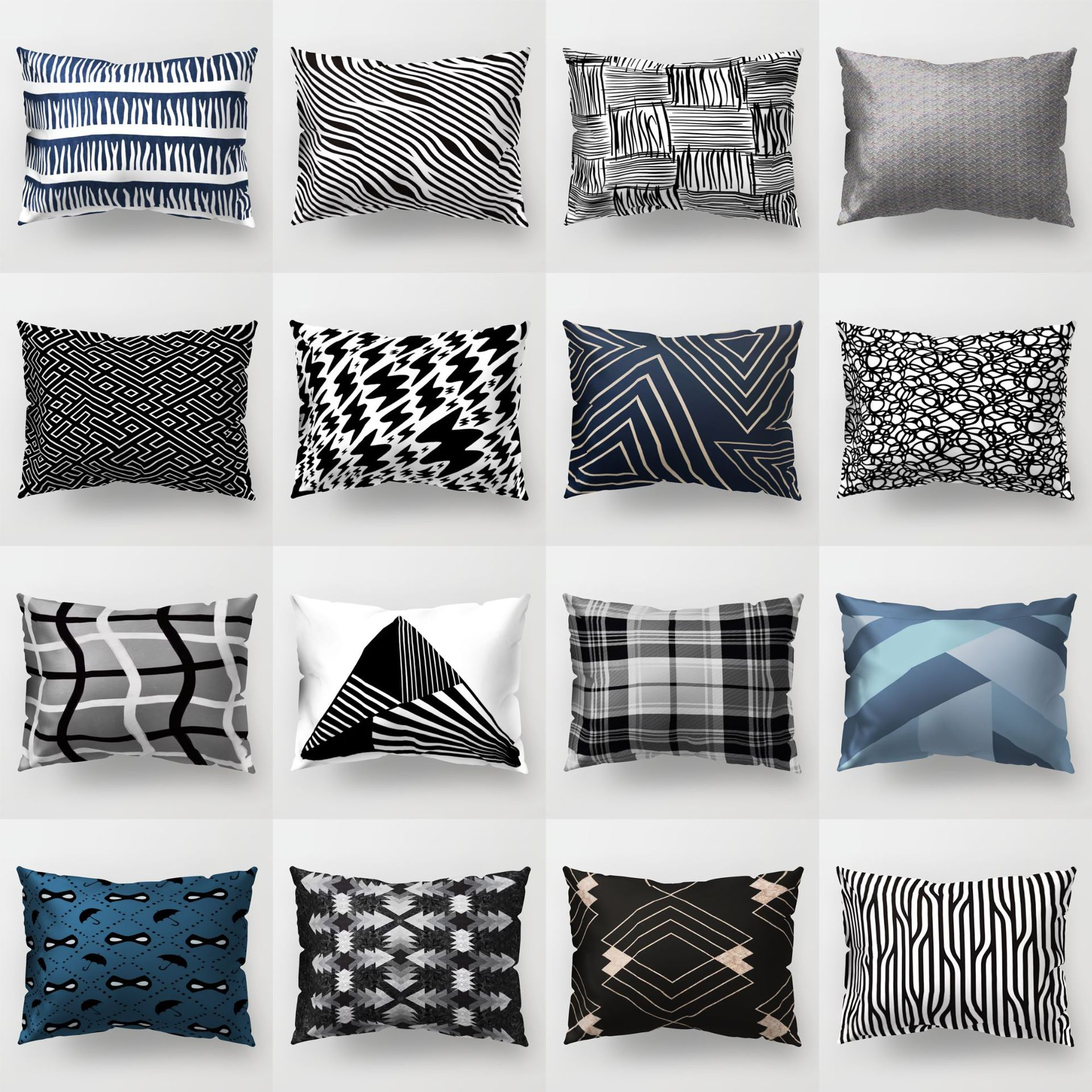Cool 33F5C0 Buy Black White Pillows Decorative Throw Pillows And Ibusinesslaw Wood Chair Design Ideas Ibusinesslaworg