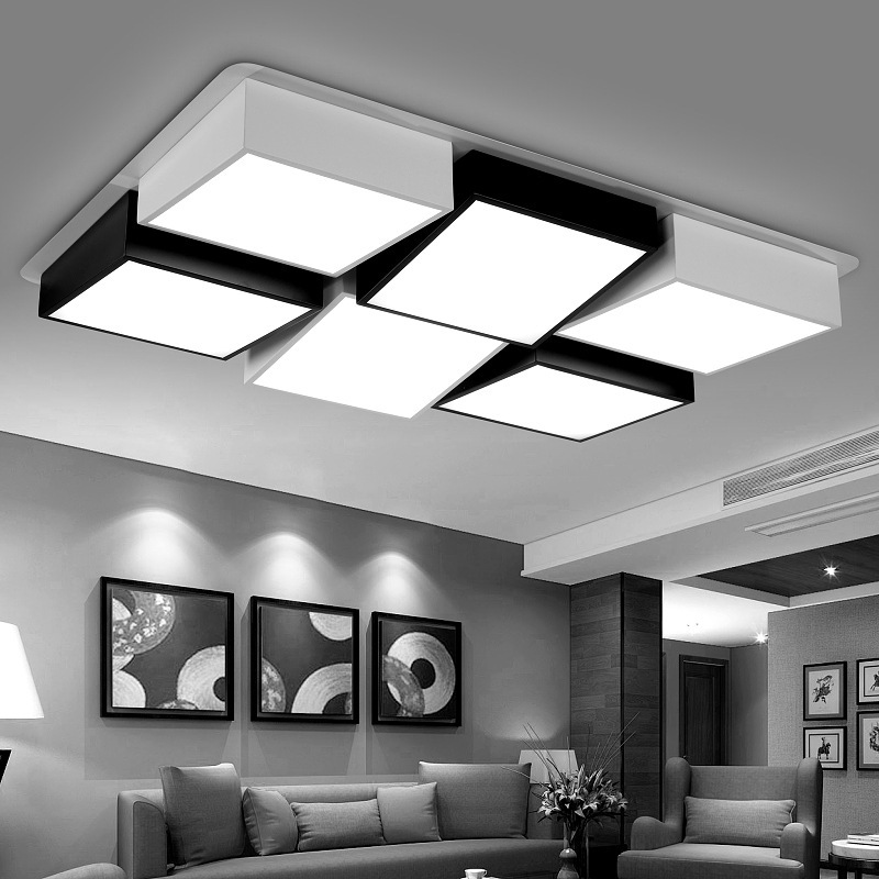 favorable Led Ceiling Lights 48w 72w plafondlamp Indoor Lighting Square Bedroom Living Room foyer Lamps las luces del techo japanese led ceiling light ac90 265v indoor lighting square 45 55cm solid wood natural bedroom living room lamp foyer lamps